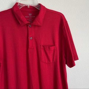 Mack Weldon Red Short Sleeve Vesper Polo